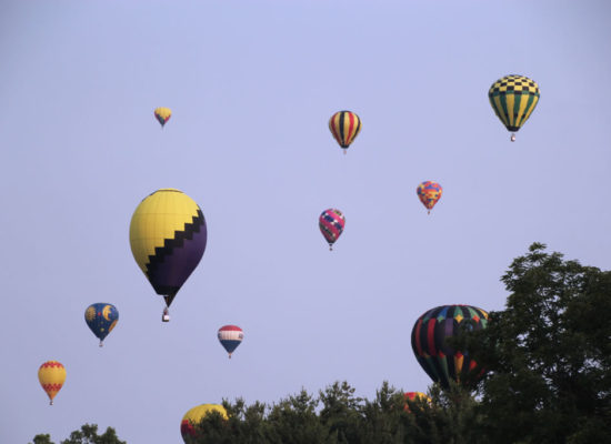 Hot Air Balloons taking Flight at the Ashland Ohio Balloonfest