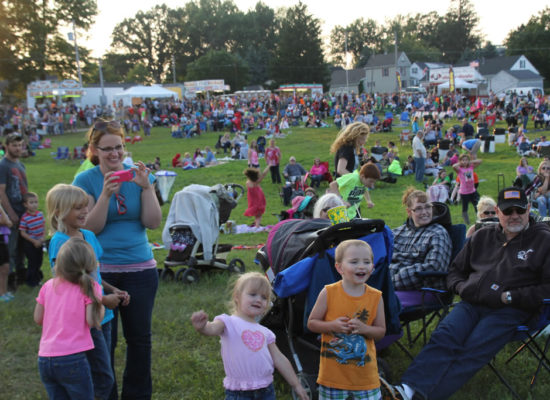 Crowd Watching Live Music at the Ashland Ohio Balloonfest