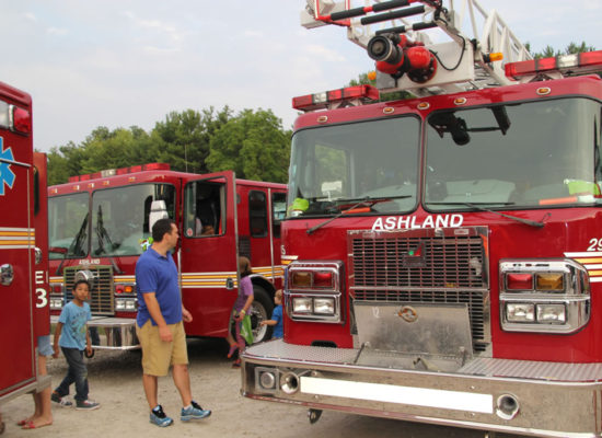 Fire Trucks on display at the Ashland Ohio Balloonfest