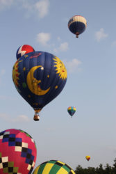 Hot Air Balloons in the sky at the Ashland Ohio Balloonfest